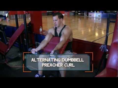 Alternating Dumbbell Preacher Curl