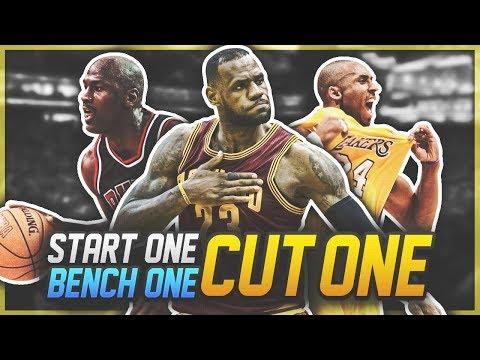 CRAZY DIFFICULT NBA START, BENCH, CUT CHALLENGE!