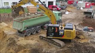 Soeren66 - Raupenbagger CATERPILLAR 326F Und 308E BeimAusschachten Einer Baugrube