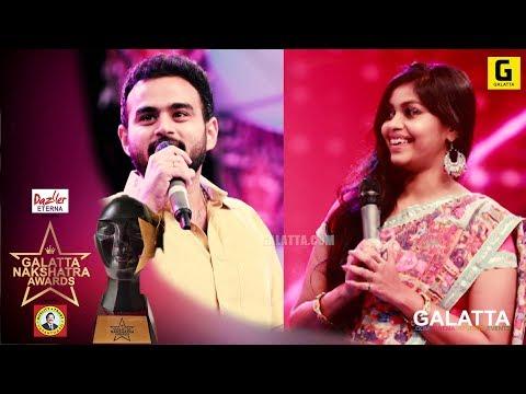 Nanga ipo thalaivar yarunu theditu irukom mirchi vijay and mirchi sha| galatta nakshatra awards