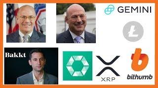 CFTC Giancarlo Institutional Money - Adam White Bakkt - Gary Cohn - Gemini Litecoin - Cobinhood XRP