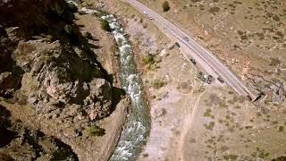 Thematic Eagle Dive into Clear Creek with Aquila DJI FPV