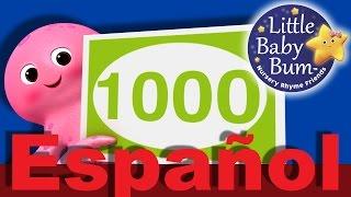 Gambar cover Los números del 100 al 1000 | Canciones infantiles | LittleBabyBum