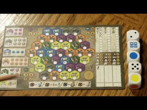 Hair Brained Games - Castles of Burgundy Dice Game Review