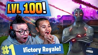 OMG *NEW* TIER 100 OMEGA SKIN IS UNSTOPPABLE IN FORTNITE BATTLE ROYALE! 9 YEAR OLD BROTHER! SEASON 4