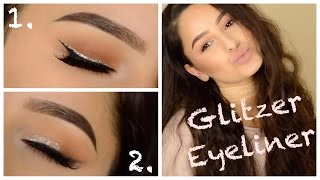 2 Arten von Glitzer Eyeliner   mwHANNAH