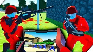 STRIKER РАЗРУШИТЕЛЬ и Деревня Minecraft - Игра Ravenfield для мальчиков.Битва солдатиков в РЕВЕНФИЛД