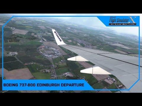 FSX as real as it gets - PMDG 737 Ryanair Edinburgh