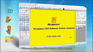 Richpeace CAD Software Online Lessons-Tip of the day-print style info (V10)