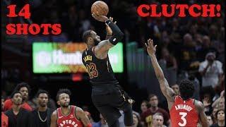 LeBron James - All 14 Clutch Shots - 2017/2018 NBA Season! (Chronological Order)