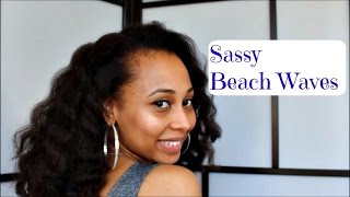 Natural Hair Beachy Waves With Finger Wrapping Technique Samye