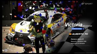 Gran Turismo SPORT Online Road to Trophy, Record de victorias, 36 Victorias, C.B. Lexus au TOMS RC