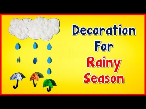 How to make 3d Craft fun Rainy project DIY | Project on chart paper by The Arts Center