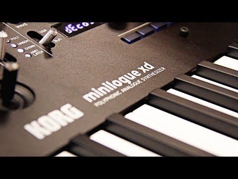KORG minilogue xd — Polyphonic Analog Synthesizer Music Concept (ALL SOUND, NO TALK)
