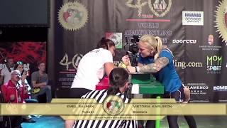 Senior Women -60 Kg RIGHT  World Armwrestling Championship 2017 