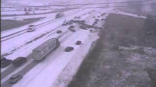 Chain reaction crash on Highway 41/45