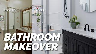 Amazing Bathroom Transformation On A Budget, Under $4k! ⚒️🙌  DIY Bathroom Makeover! Before & After