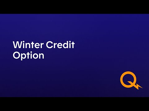 The Winter Credit Option for residential and farm customers