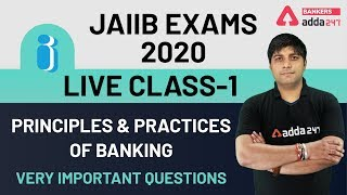 Live Class-1 | JAIIB 2020 | Principles and Practices of Banking (PPB) Very Important Questions