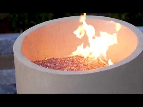 Sunset Champagne Reflective Fire Glass | Lakeview Outdoor Designs