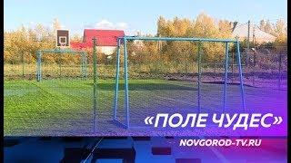 Мини-футбольное поле с искусственным газоном появилось в деревне Медниково Старорусского района