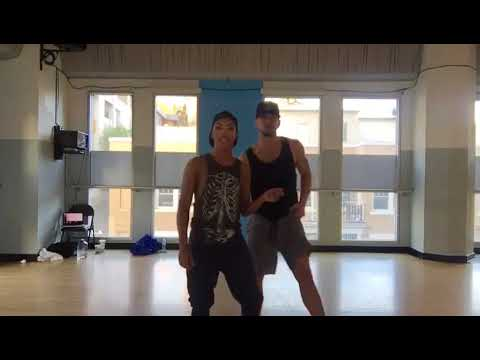 Shangela WTW rehearsal with dancer