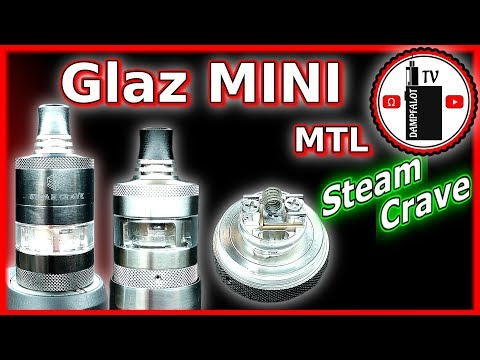 YouTube Video zu Steam Crave Glaz Mini MTL RTA Selbstwickelverdampfer 2 ml / 5 ml