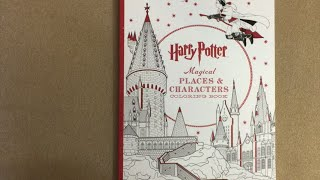 Harry Potter Magical Places Coloring book flip through