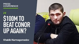 Khabib talks McGregor rematch, $100 million and Tony Ferguson