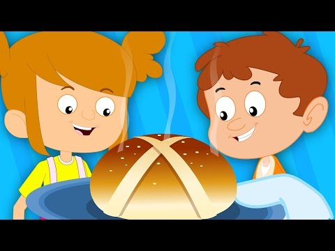 Hot Cross Buns | Nursery Rhymes For Kids And Childrens | Baby Songs