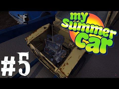 My Summer Car   #5 - Motor je v autě!   CZ/SK