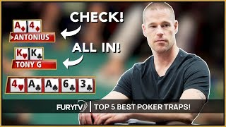 TOP 5 BEST POKER TRAPS OF THE DECADE!