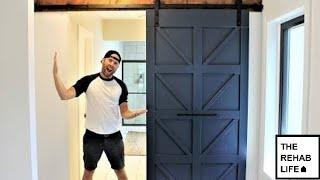 $80 Modern Farmhouse Barn Door - Easy DIY Project