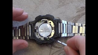 How To : Change the battery on a casio watch CR2025 Lithium Battery