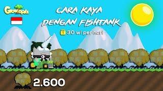 Cara Cepat Kaya Dengan Farm Fishtank (English Sub)😗   Growtopia Indonesia