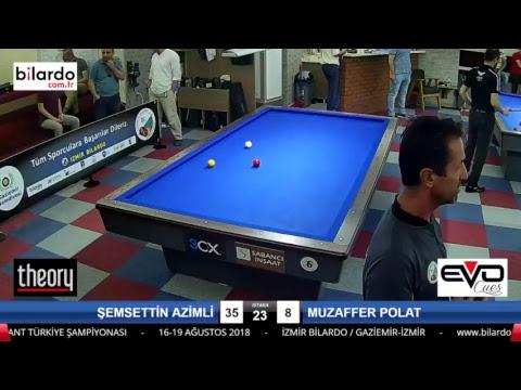 ŞEMSETTİN AZİMLİ & MUZAFFER POLAT Bilardo Maçı - İZMİR BİLARDO 3 BANT TÜRKİYE ŞAMPİYONASI-1. Tur
