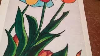 Tulipanes Día de las Madres | Día de las Madres | cómo dibujar unos tulipanes