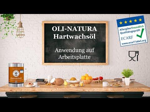 Arbeitsplatte ölen mit dem lebensmittelechten OLI-NATURA Hartwachsöl