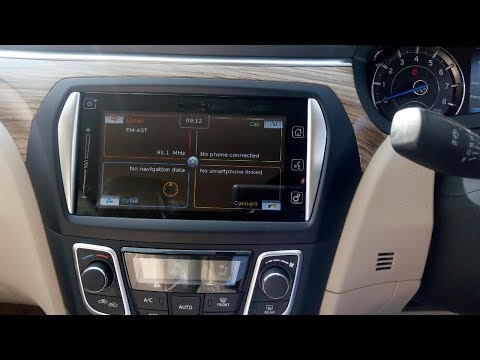 How to open Maruti Suzuki ciaz music system infotainment system