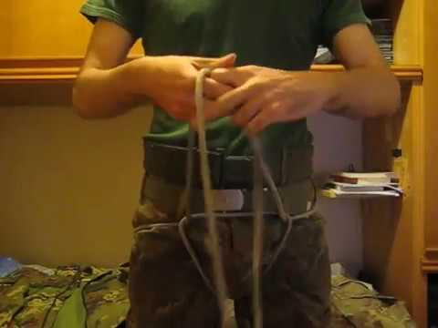 Imbracatura di emergenza con corda
