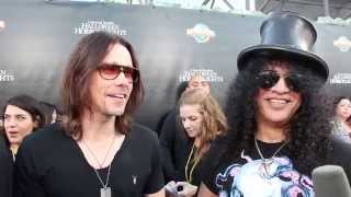 Slash And Myles Kennedy On Eyegore Awards Red Carpet