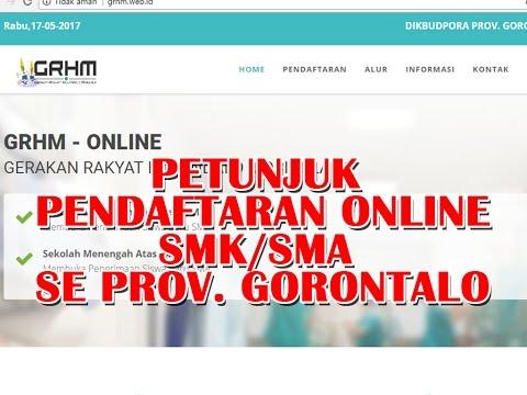 Video Cara Registrasi Pendaftaran Siswa Baru Online Gorontalo