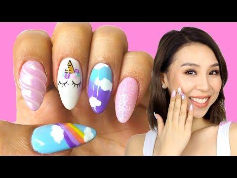 I Got Unicorn Nails! Tina Yong