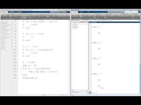 MATLAB For Loop Tutorial