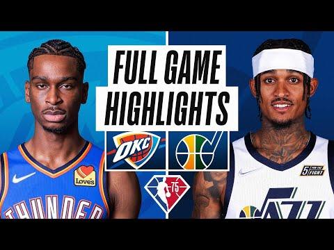 Utah Jazz vs Oklahoma City Thunder</a> 2021-10-21