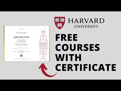 Harvard University Free Online Courses with Certificate   Free ...
