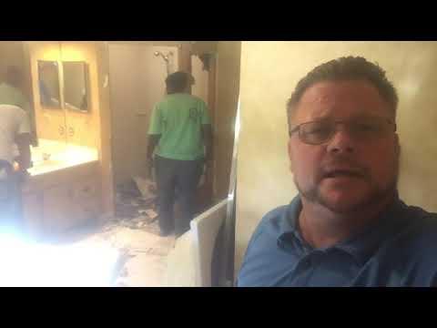 Master Bathroom Renovation - Removed tub, Vanity, Master Shower Exposing Damaged Wood