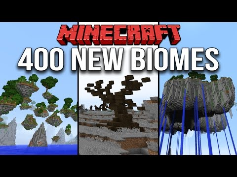 Minecraft 1.10 Over 400 New Biomes & 1700 Custom Structures (Terrain Control Mod: Biome Bundle)