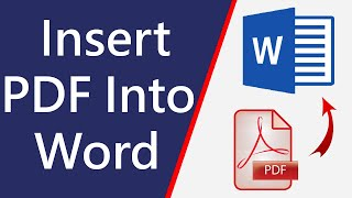 [GUIDE] How to Insert PDF into Word Document very Easily