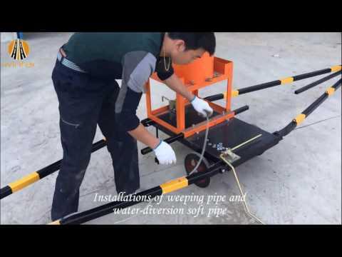 YHSX-9 ROAD MARKING PRE-MARKING MACHINE OPERATION SHOW